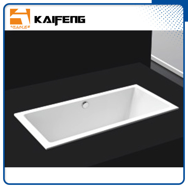 Square Long Freestanding Soaking Bathtubs For 1 Person Space Saving